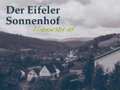 Nieuwsbrief Eifel vakantie