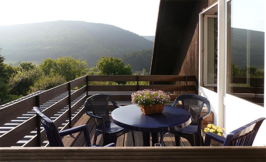 vakantiewoning eifel balkon